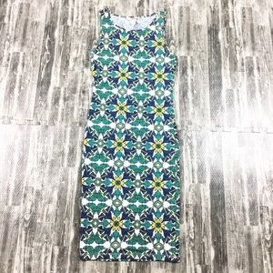 Forever 21 Dress Body Con Green Blue Size Small
